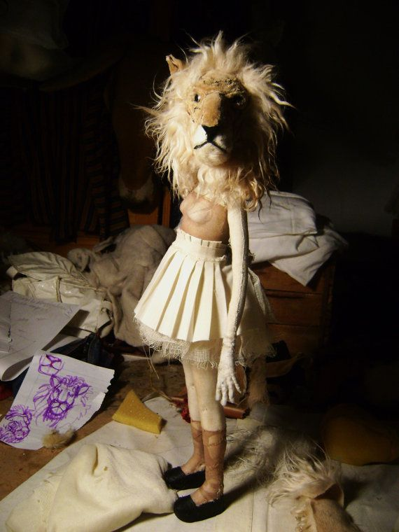 Art Doll - Sculpture for Valeria Dalmon - Animals heads -Only for comission #lions #artdolls: