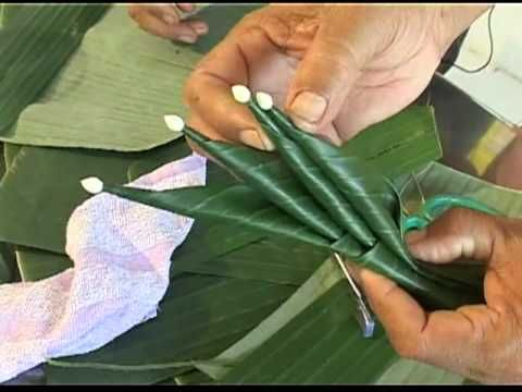 So cool. Origami with foliage.