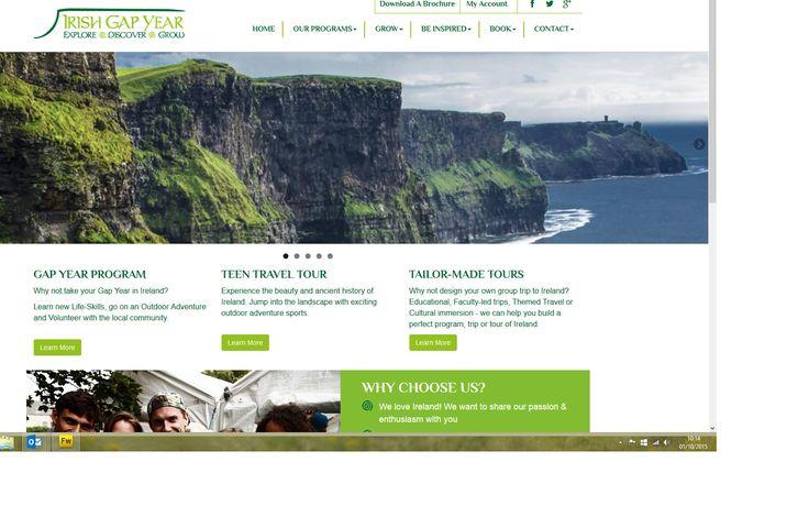 www.irishgapyear.com - website built by web designers in county Sligo www.format.ie about a 12 week gap year programme in Ireland for students.