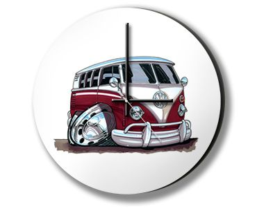 Querky but awesome, characiture automotive clocks - up to 52 different designs.  Made in the UK  http://www.madecloser.co.uk/home-garden/home-accessories/automotive-clock