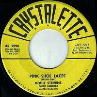 Don Surber: Dodie Stevens. Tan shoes with pink shoelaces