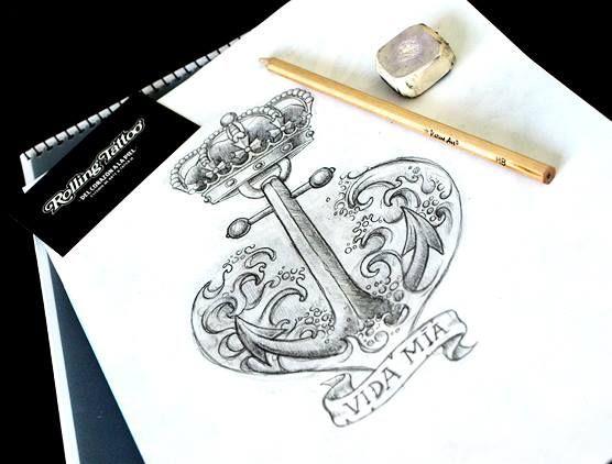 Ancla sin amarra.   Diseñado por Javier Jiménez, tatuador e ilustrador en Rolling Tattoo Fuengirola   Todos los Derechos Reservados   Anchor   Designed by Javier Jiménez, tattooist & illustrator in Rolling Tattoo Fuengirola   All Rights Reserved   #anchor #tattoo #ancla