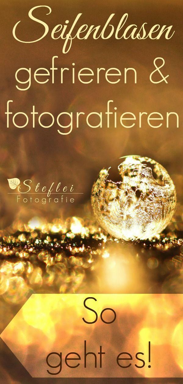 Gefrorene Seifenblasen fotografieren  Katalin Ledacs-Kiss