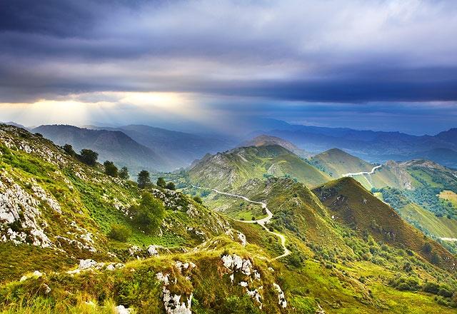 Northern Spain - Way of St. James to Santiago de Compostela.