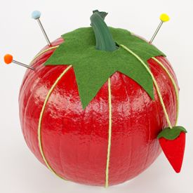 Disguise your pumpkin as a pincushion this Halloween. Create this no-carve pincushion pumpkin with our free video and pattern.
