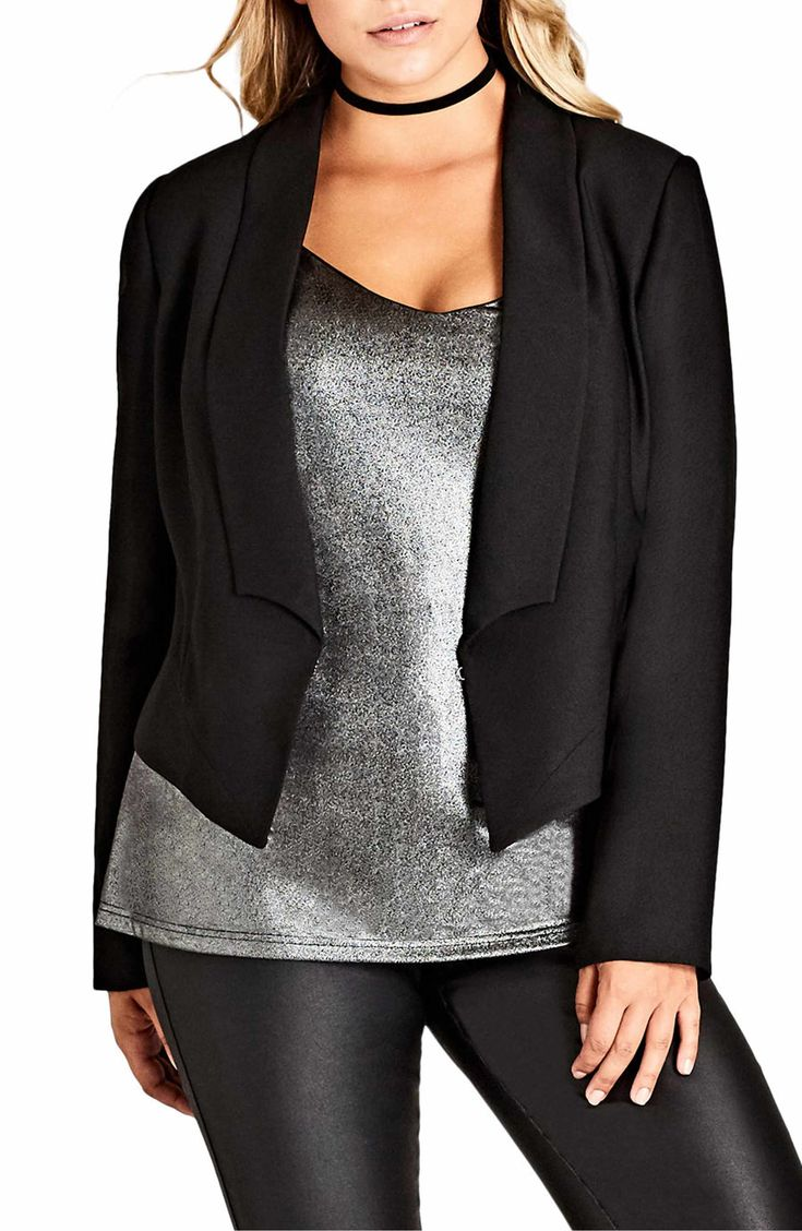 Main Image - City Chic Chic Tuxe Jacket (Plus Size)