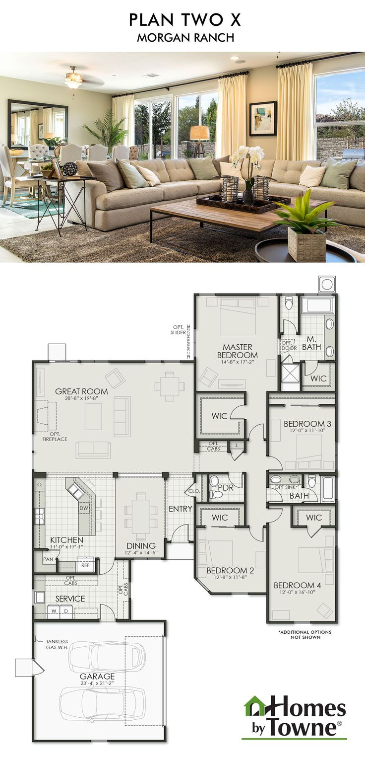 Plan Two X Morgan Ranch Roseville, CA Homes by Towne