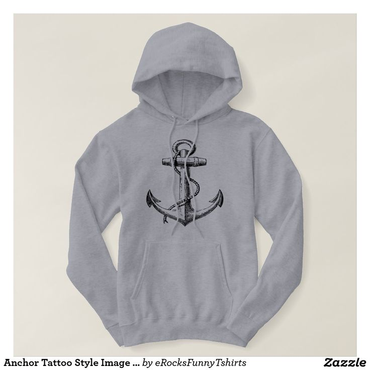 Anchor Tattoo Style Image Hoodie #sailing #anchor #tattoo #style #Hoodie