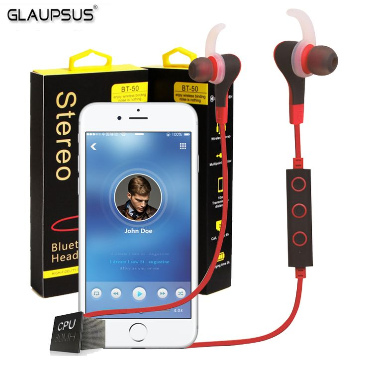 Find More Earphones & Headphones Information about Original GLAUPSUS BT 50 Bluetooth Wireless In Ear Stereo Headphone Earphone Sport Universal Handfree In Ear Headphone For iPhone,High Quality headphones gaming,China headphone jack for ipod Suppliers, Cheap headphones children from GLAUPSUS store on Aliexpress.com