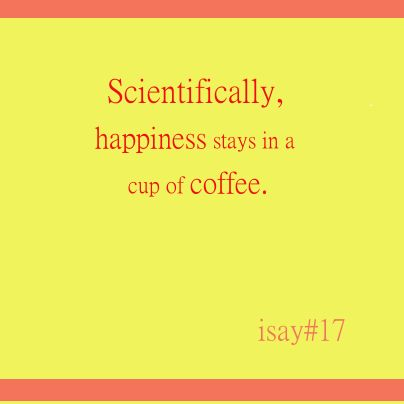 #Happiness stays in a #cup of #coffee #science