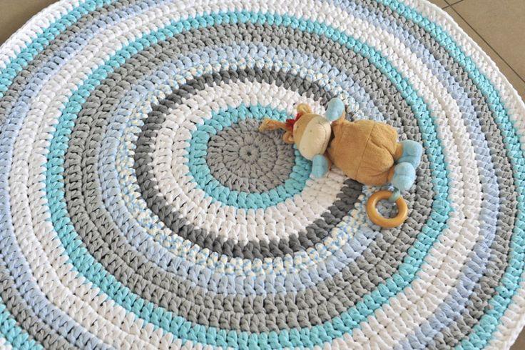שטיח ים מחוטי טריקו סרוג בעבודת יד