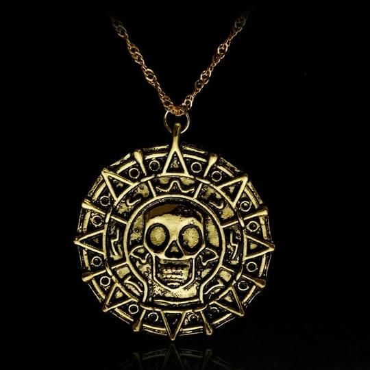 Jewelery Pirate Skull Metal Ear Rings Fancy Dress One Size Buccaneer Caribbean