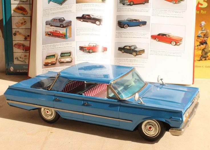 Antique Tin Toy#IY Metal 1963 Chevrolet Impala Car Japan Yonezawa Bandai MArusan #Bandai
