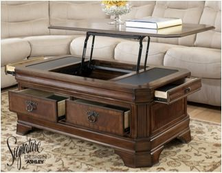 Medium Brown Hamlyn Coffee Table With Lift Top And Storage Drawers