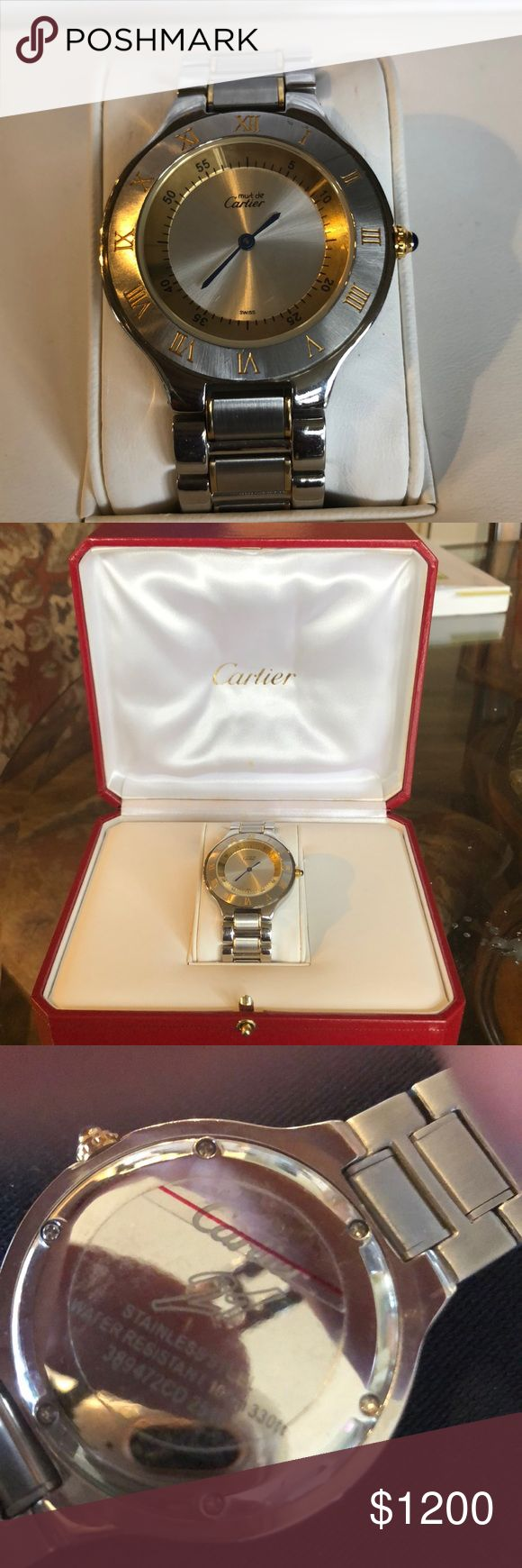 Cartier watch with box. Authentic Used authentic Cartier watch, used. NEEDS BATTERY. Cartier Accessories Watches