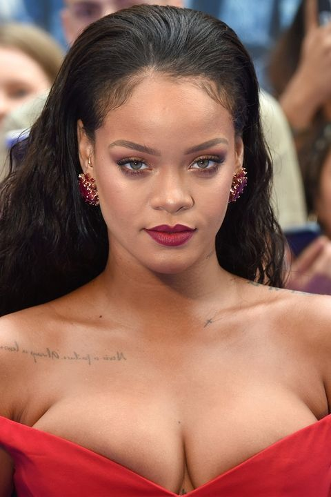 Rihanna's red lipstick is from Fenty beauty.