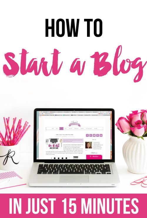 How to start a blog in just 15 minutes. It's easier than you think, and I'll walk you through how to start your blog step by step.