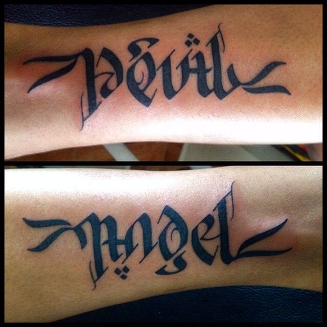 1000+ Ideas About Ambigram Tattoo On Pinterest