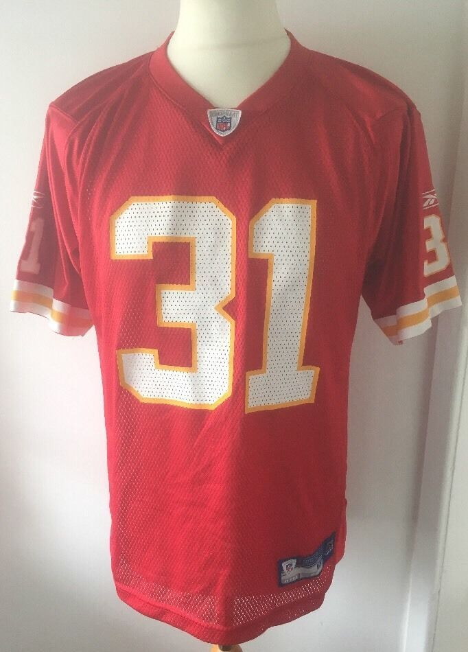 Jersey KANSAS CITY CHIEFS  REEBOK #31 HOLMES NFL home Size XL Vintage  | eBay