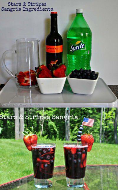 Todo lo que necesitas es: vino tinto, Sprite, fresas, arándanos. Consigue la receta aquí.