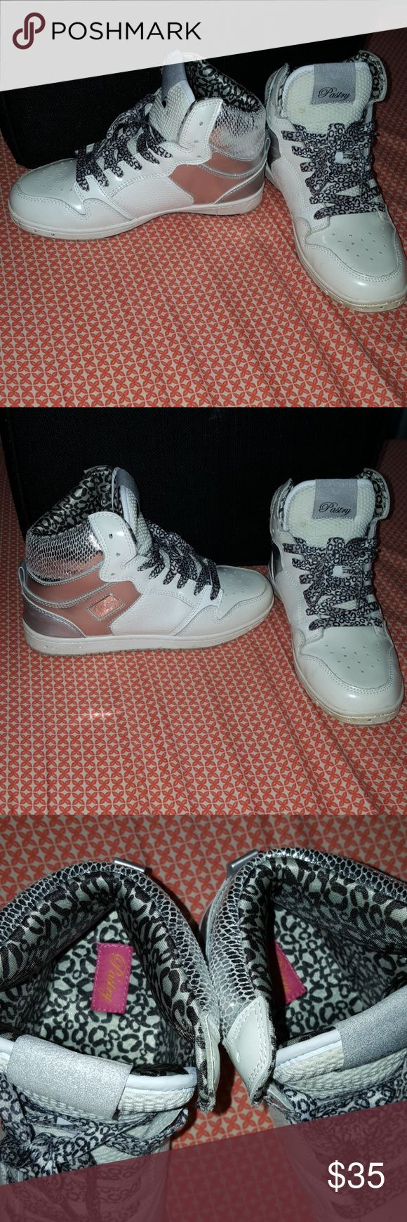 Pastry Creme Cheetah Sz.7 Shoes Cheetah Print Pasty Shoes Sz.7. Worn Once. Clean no Scuff marks True to size 7. Comes from a *Non Smoking & Pet Free Home* Pastry  Shoes Sneakers