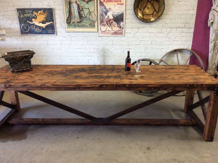 Industrial style cafe alfresco table