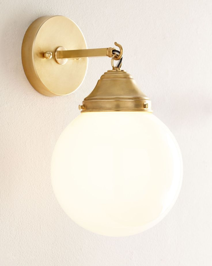 Orb Indoor/Outdoor Sconce, Gold