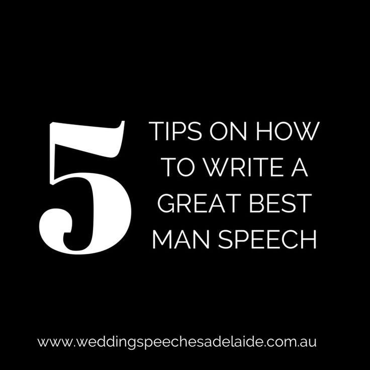 5 Tips For Writing A Great Best Man Speech