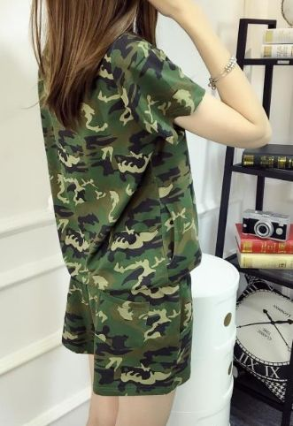 Camouflage Top & Shorts Jogging Suit. Find yours here: https://ecolo-luca.com/products/camouflage-top-shorts-jogging-suit