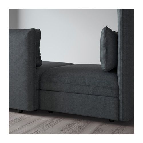 ВАЛЛЕНТУНА 3-местный диван-кровать - Хилларед темно-серый, Хилларед темно-серый - IKEA