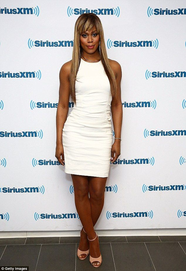 Promotional duties: Laverne Cox visited the SiriusXM studios in New York City on Monday as...