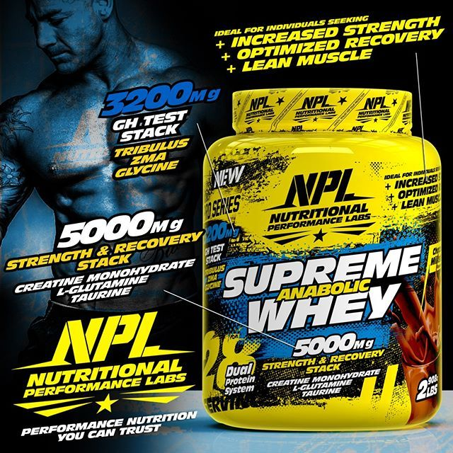 NEW! Introducing NPL's SUPREME ANABOLIC WHEY - With Added SUPER STACKS! - NPL's…