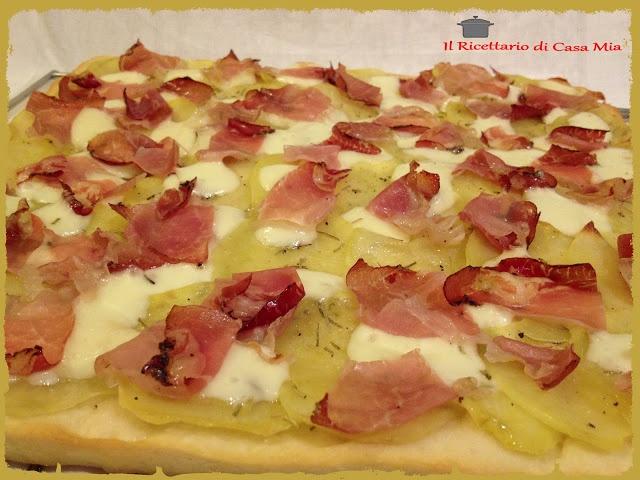 Pizza con Patate e Speck