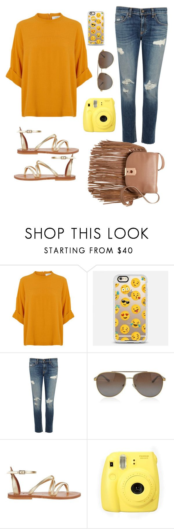 """Emoji"" by erinlarson0226 ❤ liked on Polyvore featuring Casetify, rag & bone/JEAN, MICHAEL Michael Kors, K. Jacques, Fujifilm and Botkier"