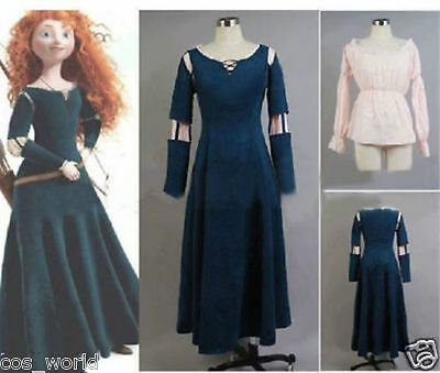 Princess Merida Costume Dress for Brave Cosplay Custom Made  #fashion #clothing …