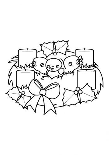 Adventskranz Malvorlage weihnachten adventskranz zum