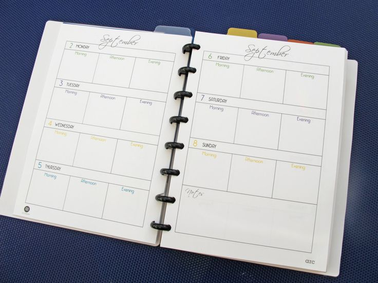 Arc Calendar Printables : Printable weekly planner septdec for staples arc by