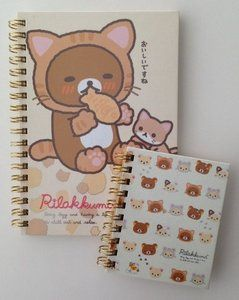 SPECIAL SET San-X Rilakkuma Ring Binder Notebook | Rilakkuma as Cat