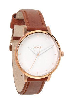 The Kensington Leather, $125: Kensington Leather, Fashion, Rosegold, Style, Leather Watches, Nixon Watches, Accessories, Nixon Kensington, Rose Gold