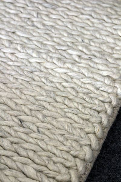 Rope Rug 100 Wool Rug. I think this would look nice over polished wood floors or white washed wooded floorboards.