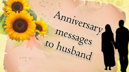 A wife writes an anniversary message to her husband to wish him a happy anniversary.