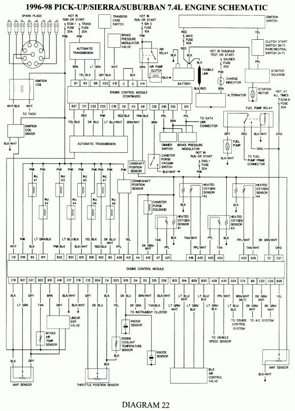 Wiring Diagram For 1990 Chevy Pickup With Deisel Engine And Chevy Silverado Electrical Diagram Wiring Diagram In 2020 Electrical Diagram Repair Guide Chevy Silverado