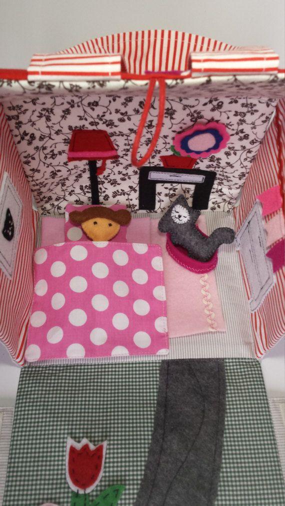 dollhousetravel dolhousesoft toyactivity toydress up by ToysByIna