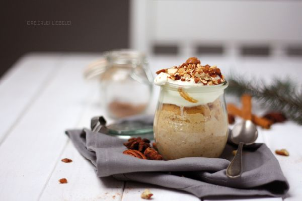 Dreierlei Liebelei: Bratapfelkuchen im Glas