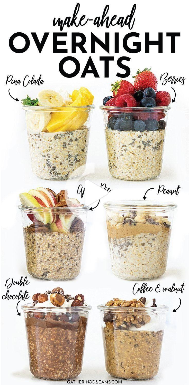 6 Increíblemente Saludables Durante La Noche Avena Recetas Para Un Desayuno Fácil Que Usted Puede Hacer Antes De Tiempo Perfecta Para La Preparación De Comida En 2020