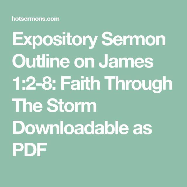 Booklogo Design: Expository Sermon Outline On James 1:2-8: Faith Through