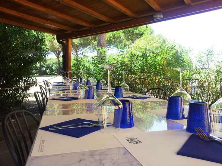 Table set in the shed in the garden of the restaurant for a lunch of fresh fish! #RistoranteEnotecaGraziani #restaurant #tuscany