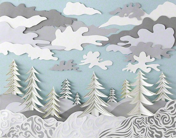 Art Print Paper Sculpture - Winter