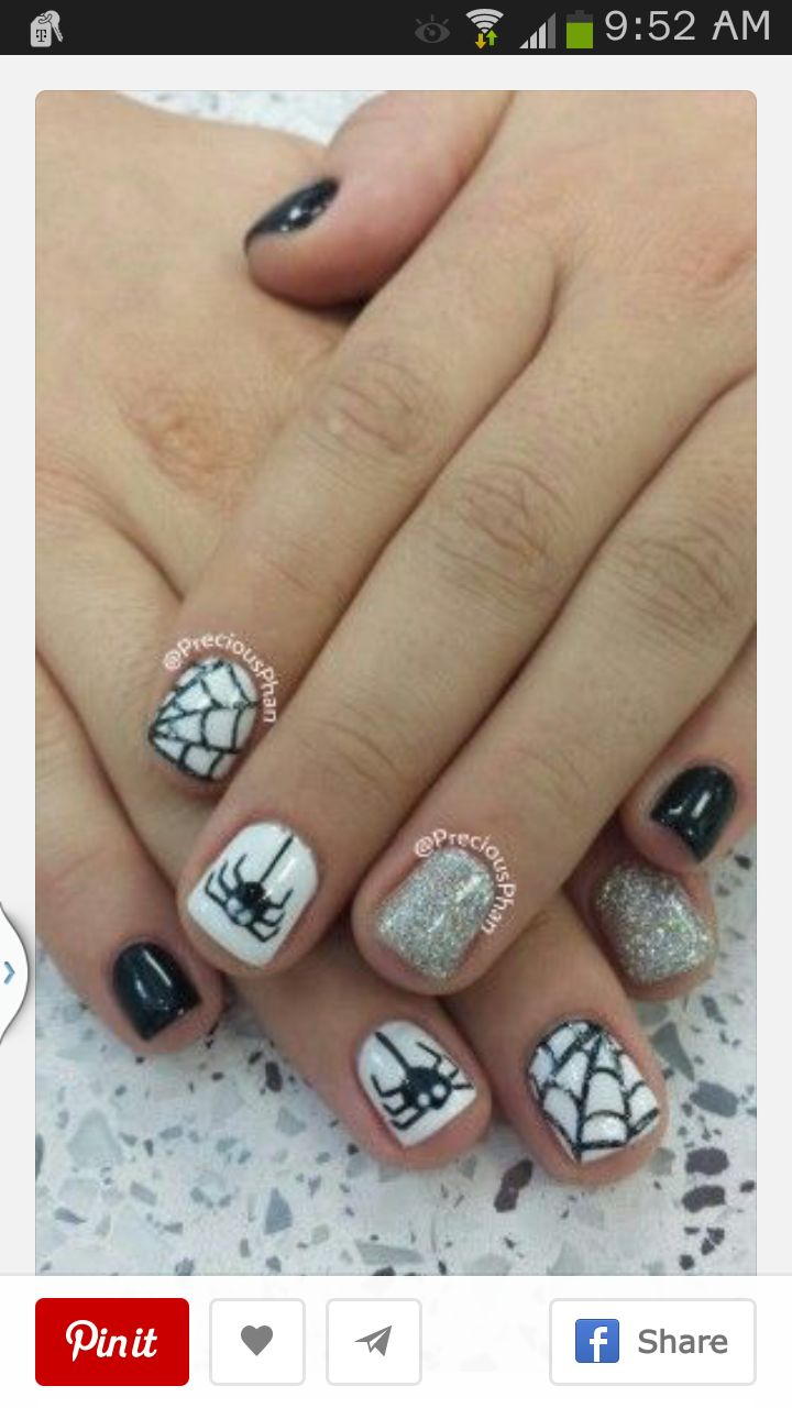 Amazing Spider Web Design Nails Collection - Nail Art Ideas ...