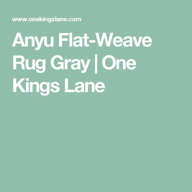 Anyu Flat-Weave Rug Gray | One Kings Lane